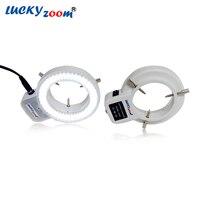 Регулируемый 6500 К 144 кольцо света лампа подсветки для промышленности стерео микроскоп Лупа 110 В-240 В multi -Функция адаптер