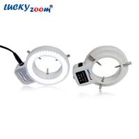 Có thể điều chỉnh 6500 K 144 LED Vòng Ánh Sáng Đèn chiếu sáng Đối Với Ngành Công Nghiệp Stereo Microscope Magnifier 110 V-240 V đa-chức năng Adapter