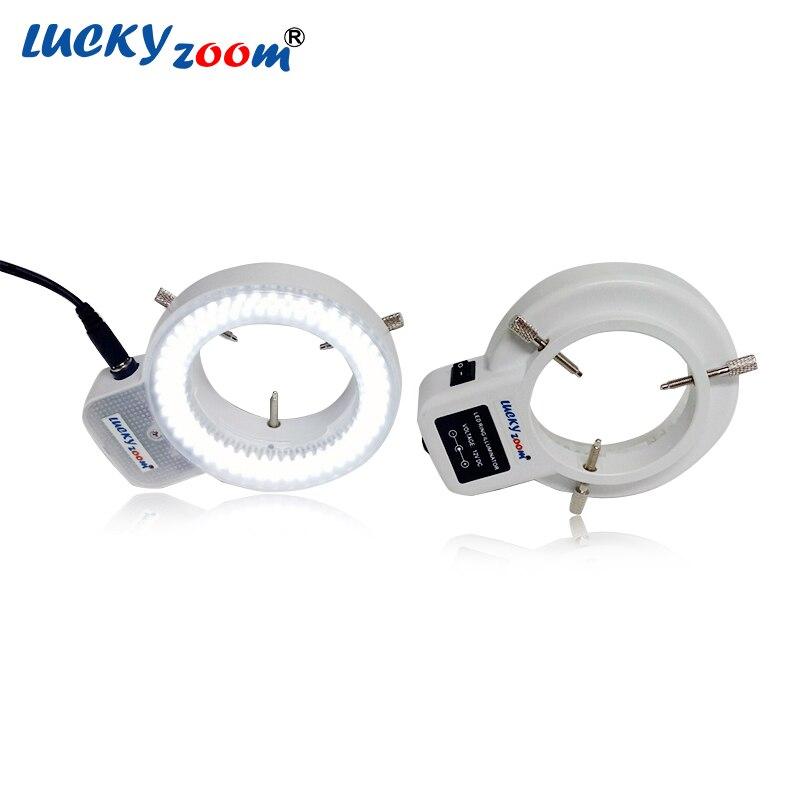 Réglable 6500 k 144 LED Light Ring illuminateur Lampe Pour L'industrie Stéréo Microscope Loupe 110 v-240 v multi -fonction Adaptateur