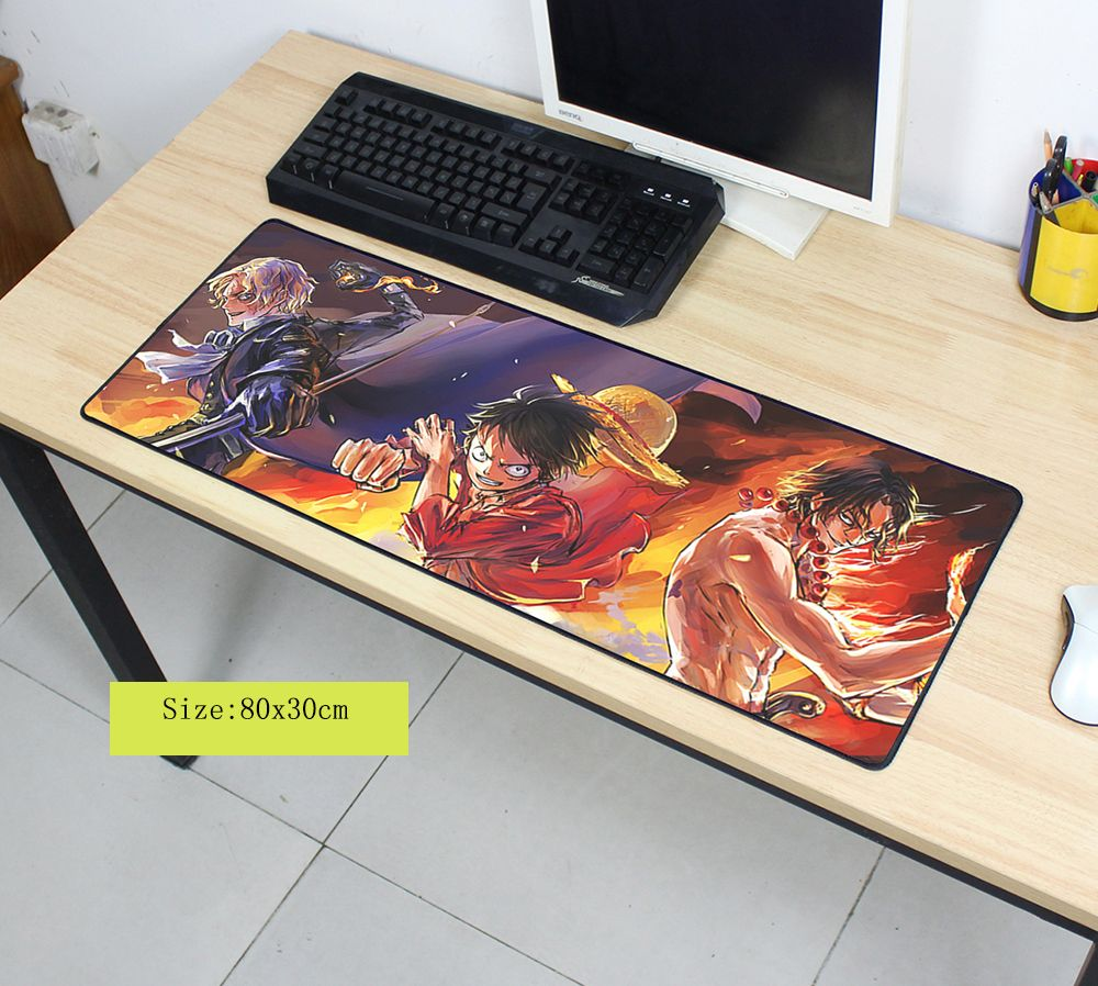 One Piece Mouse Pad 800x300x2mm Pad To Mouse Notbook Mousepad Beautiful Gaming Padmouse Gamer To Large Keyboard Mouse Mats