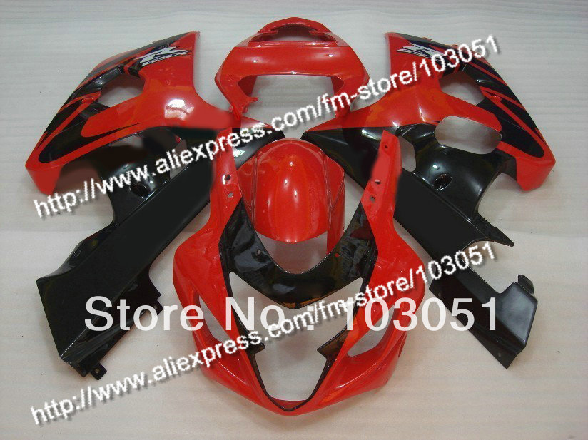 bodywork for SUZUKI 2004 GSXR 600 fairing K4 2005 GSXR 750 fairings 04 05 glossy red with black DB49 abs plastic for new white red suzuki 2004 2005 gsxr 600 750 bodywork fairing kit k4 gsxr600 sxh gsxr750 fairings kits 04 05 528