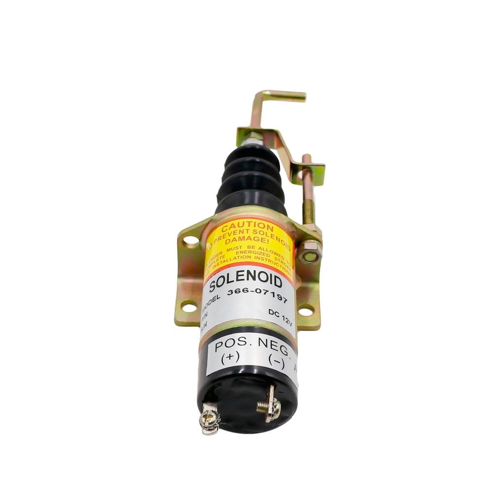 lowest price CNSPEED Racing Car Fuel Shut Off Solenoid Valve 1502 12v  Solenold Lister Petter Lpw  Engine Genset 366-07197  XS100492