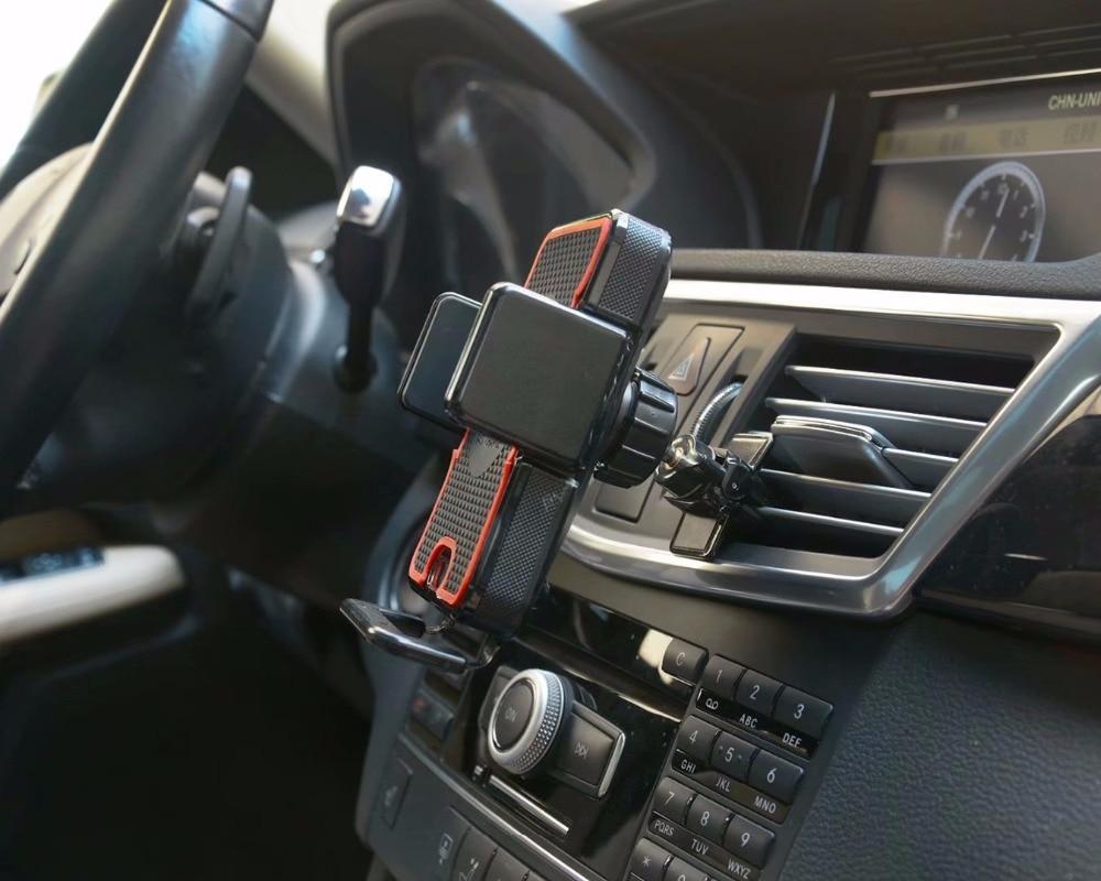 Chargeur sans fil de capteur infrarouge d'aspiration de Clip d'évent de voiture porte-téléphone représente Xiao mi Pocophone F1, mi A2 Lite, mi 8 Explorer