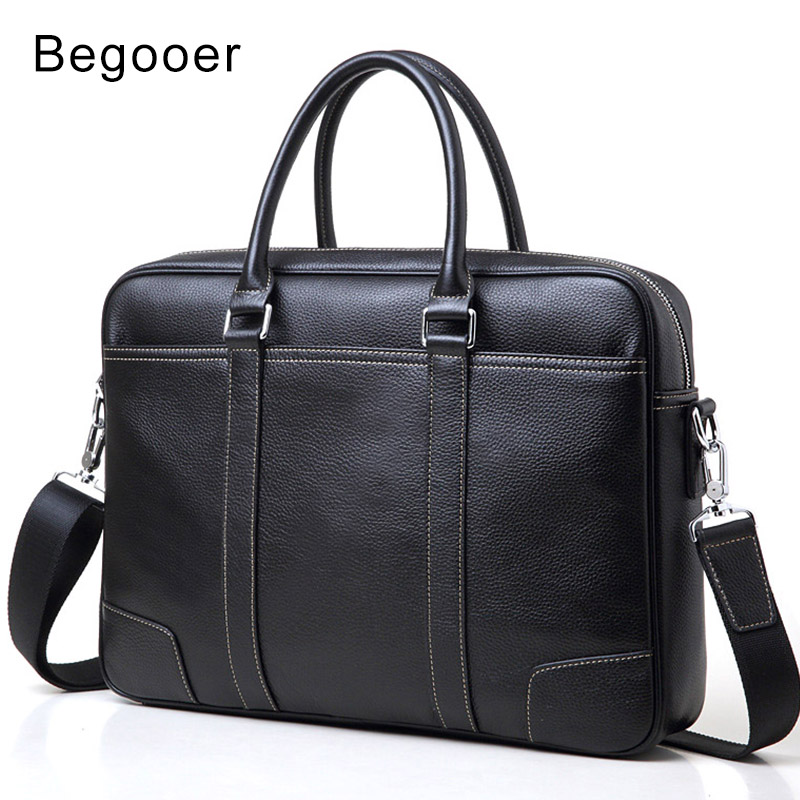 Guarantee Genuine leather Briefcase Men Leisure Men's Bag Business Messenger Bags Male Portable Briefcase Laptop Handbag Brand-in Briefcases from Luggage & Bags    1