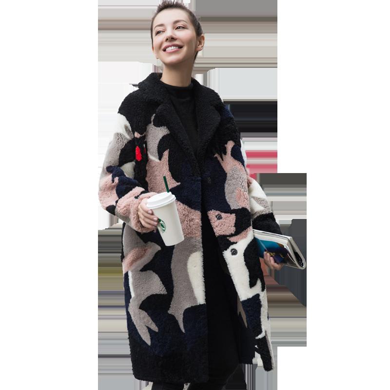 Automne hiver veste femmes vêtements 2018 coréen réel fourrure manteau laine veste Vintage laine d'agneau manteaux Double face fourrure hauts ZT1144