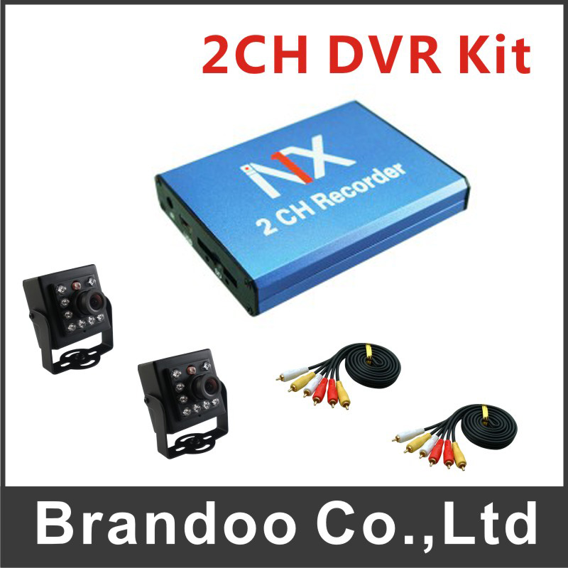 2ch video input Car 2 Channel taxi DVR