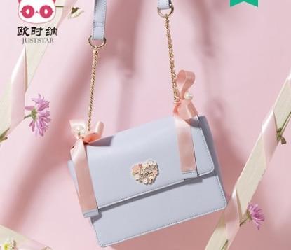 Princess sweet lolita JUSTSTAR bag Spring and summer all-match sweet female bag Korean bow fashion adorable Shoulder Bag 171813 цена