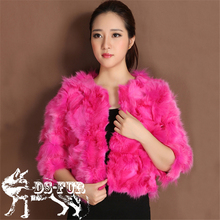 New Style Women's Real Natural Fox Fur Coat Genuine White Fox Fur Jacket Winter Women Outerwear Female Clothes Overcoat Wrap