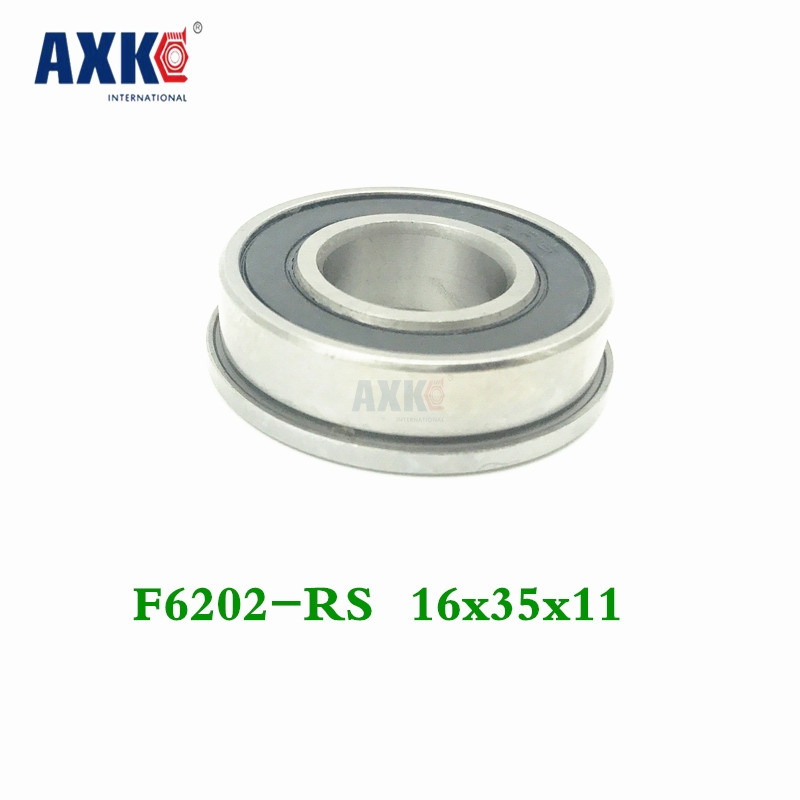 F6202 F6202rs F6202-16-2rs 16x35x11 Flange Bearing Miniature Deep Groove Ball Bearing Sealed Ball Bearings 2016 new 624vv v groove sealed ball bearings vgroove 4x13x6mm 1 7mm deep sealing cover deep groove ball bearing