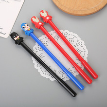 40 pcs Creative Stationery League of Legends Silicone Head Neutral Pen Lovely Student Cartoon Pen Cartoon Character Signature