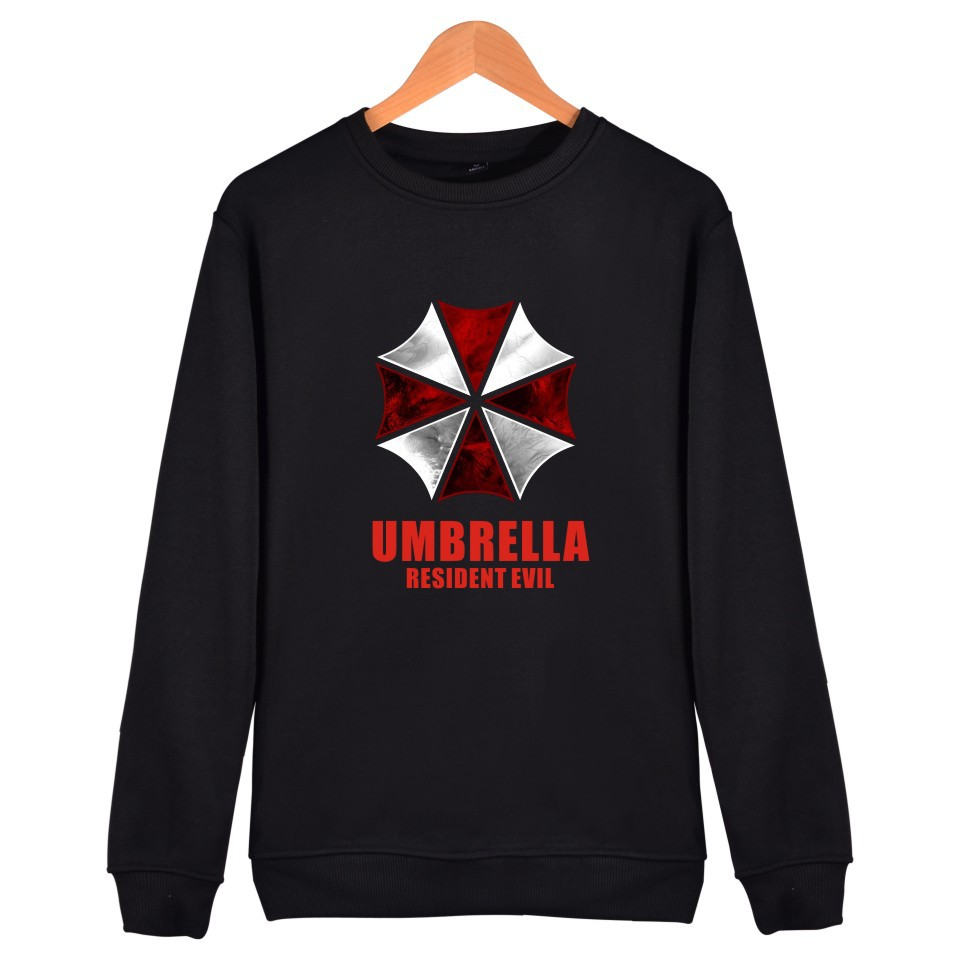Movie Resident Evil Sweatshirt Umbrella Sweaters and Pullovers unisex streetwear tops long sleeve Hoodies casual Blouse Shirts