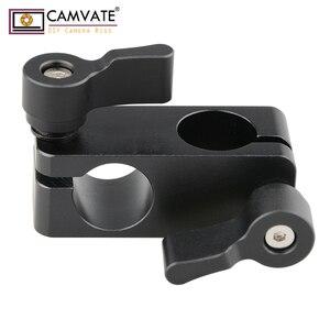 Зажим-адаптер CAMVATE для камеры DSLR, держатель для камеры 90 градусов, 15 мм