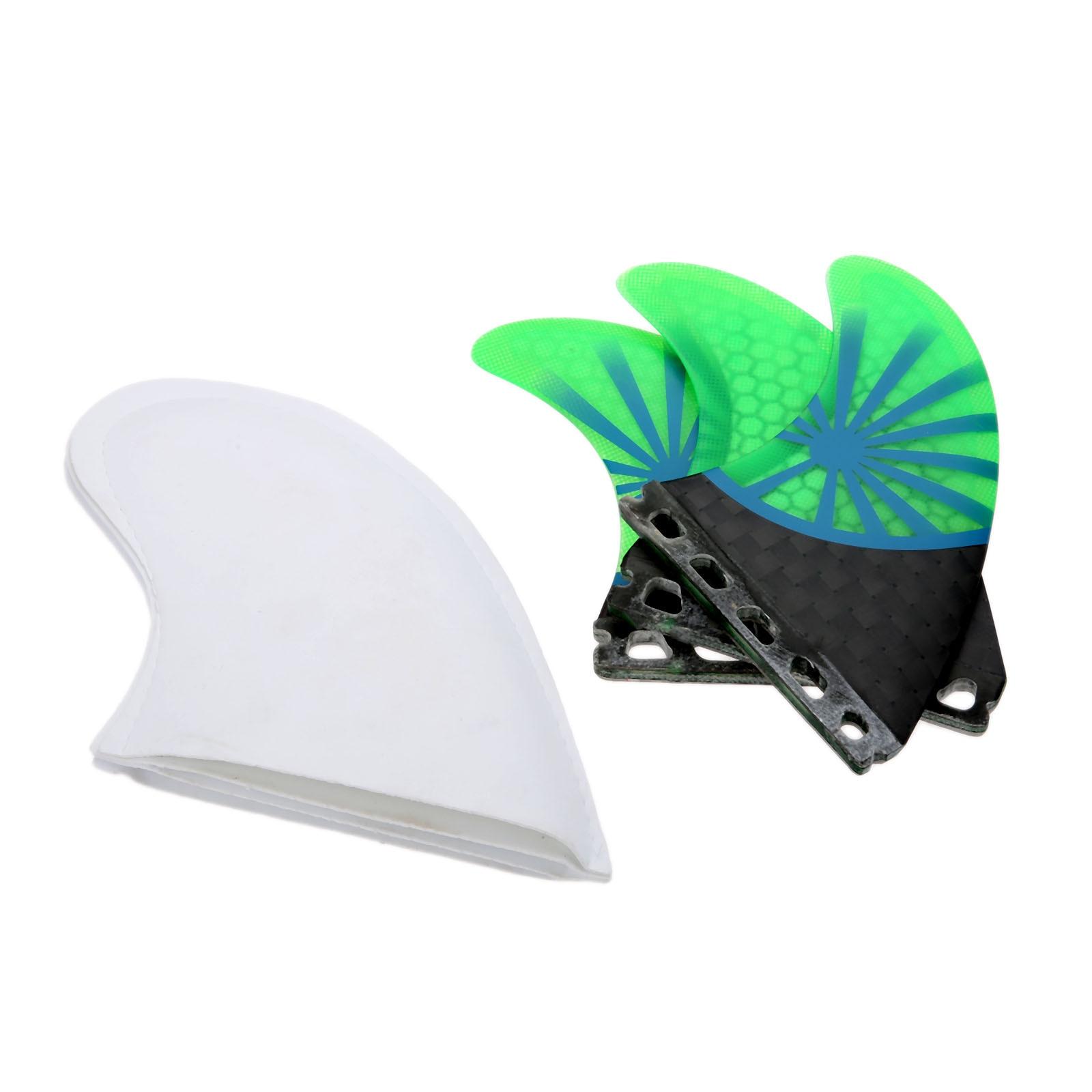 3 Pcs Pro Set G5/M Fiberglas & Honig Kamm Surf Flossen Für Zukunft Fin Box Basis Surfbrett Surfen fin Schwanz Ruder Schnelle Reaktion Fin