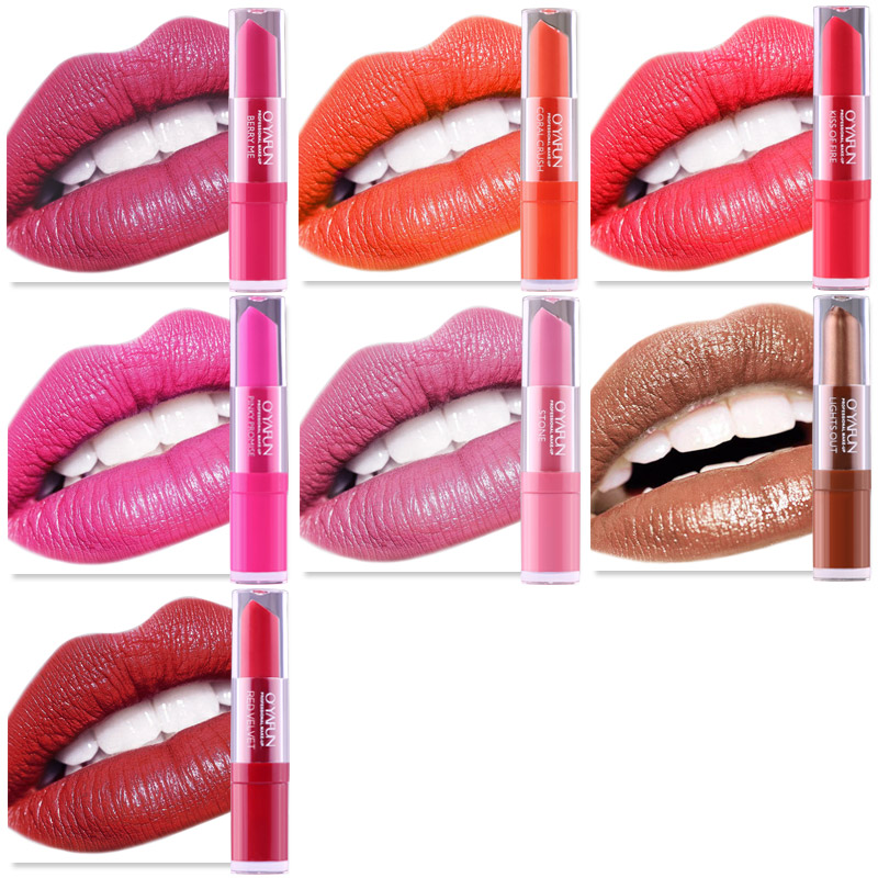 oyafun matte red liquid lipstick rouge a levre mat sexy colors paint lip gloss waterproof long