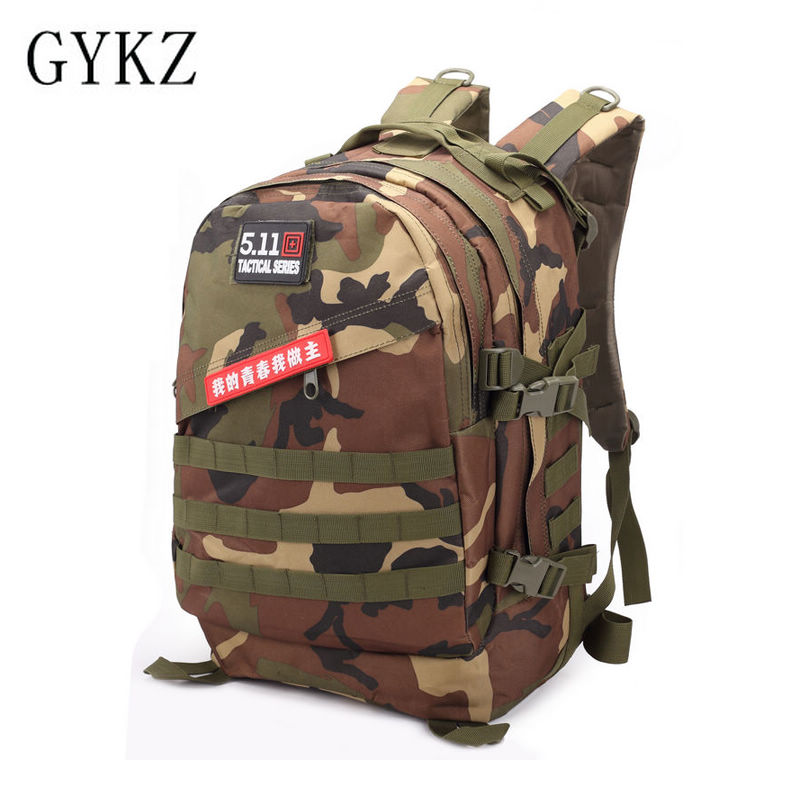 GYKZ Digital Camouflage Men's Hiking Camping Bag Outdoor Military Tactical Backpack Army Bag Men Molle System Assault Pack HY077
