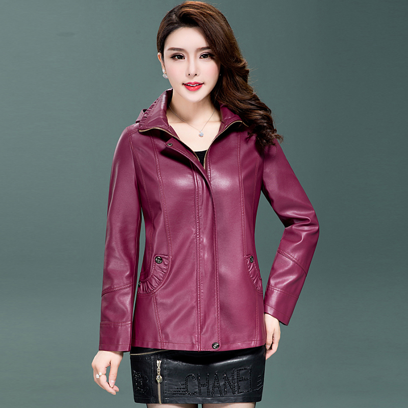 Plus Size XL 2XL 3XL 4XL 5XL 6XL Leather Jacket Women Leather Coat Long autumn Winter Casual Fashion Ladies Jackets Coats QH0859