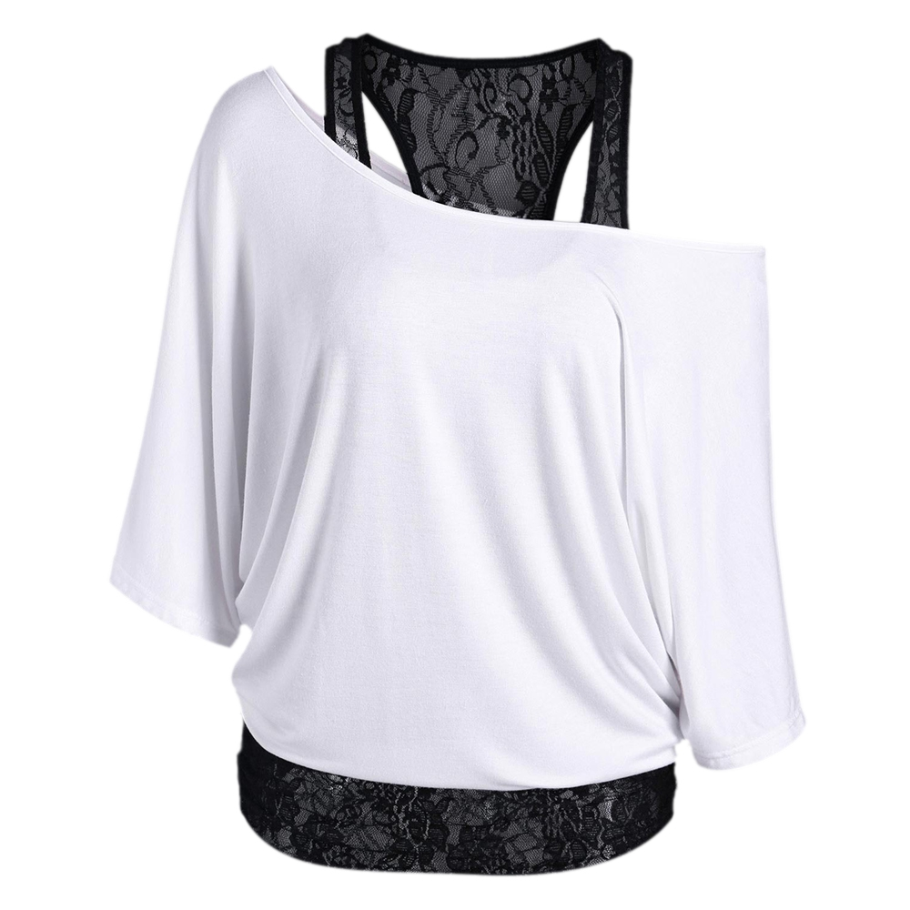 HTB1JV0OQFXXXXXbXVXXq6xXFXXX5 - Skew Collar Short Sleeve Solid Womens Clothing T-Shirt