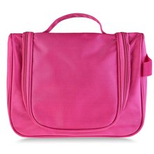 Solid Color Wash Luggage Zipper Polyester Oxford Storage Cosmetic Makeup Bag Portable Travel Organizer Cosmetic Bag
