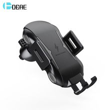 DCAE Fast Charging Qi Wireless Car Charger Automatic Clamping For iPhone XS Max XR X 8 Samsung S9 S8 Air Vent Phone Holder Mount