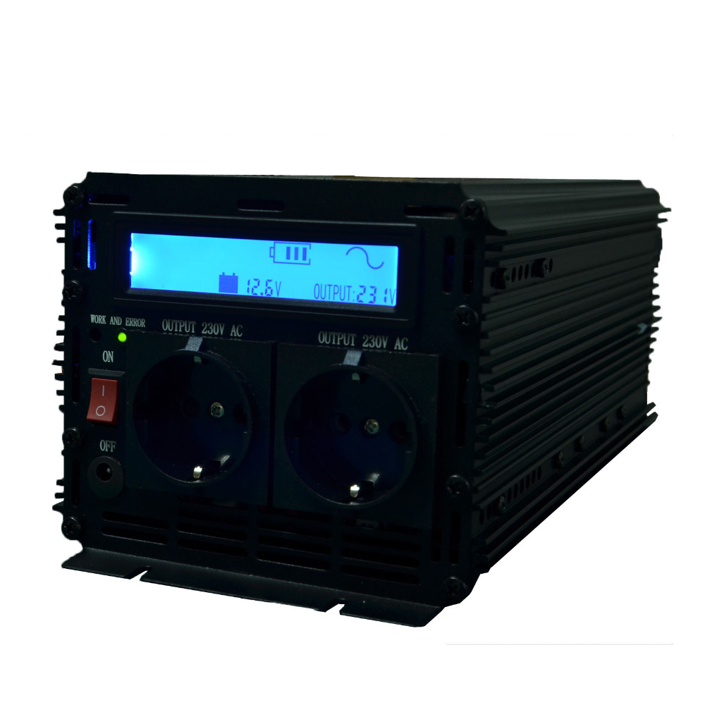 lcd inverter pure sine wave inverter DC 12V to AC 220v 230v 2500w (peak 5000w), off gird inverter with remote controller fast shipping dc to ac 12v to 220v pure sine wave inverter 5000w peak 10000w inverter pure sine wave power converters