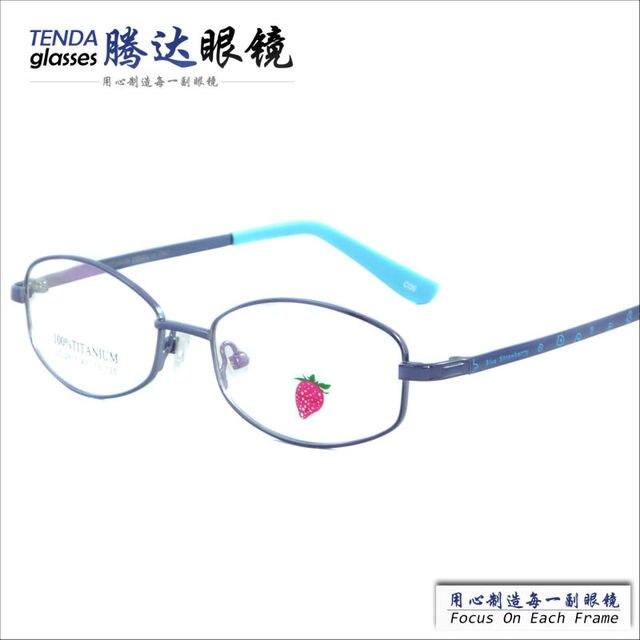 Hot Selling Stylish Design Cheap  Full Rim Memory Alloy Glasses Frame For Kids With Clear Lenses