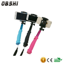 Selfish stick mobile phone stand with Button wireless Handable Monopod Self timer Large Rear Mirror for