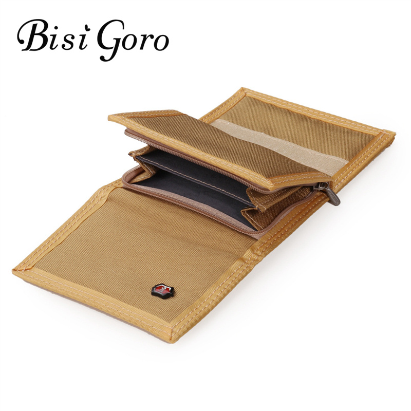 Bisi Goro 2019 2019 Fashion Unisex Wallets  Canvas Money Purse Coin Bag Zipper Short Male Wallet Card Holder Slim Purse 5 Colors