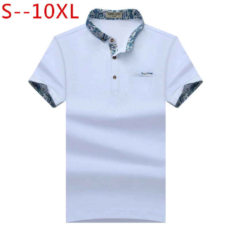 2018 New Brand New Floral Collar Men   POLO   Shirts Summer Style Short Sleeve Shirts Camisas   Polo   Plus Size S - 10XL, 1633