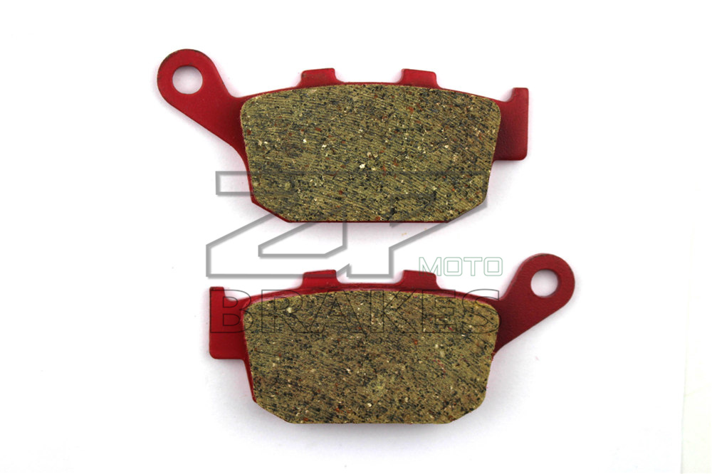 Motorcycle parts Brake Pads Fit HONDA 750 XRV L/M/N Africa twin 1990-1993 Rear OEM New Red Ceramic Composite Free shipping motorcycle front and rear brake pads for honda xrv 650 xrv650 j k africa twin 1988 1989 black brake disc pad