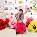 40-60 Cm 4 Cores Linda Almofada de Pelúcia Recheado Subiu Casa Decoração Suave Almofada Amantes do Presente do Dia Dos Namorados Brinquedos de Pelúcia flor