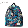 Fashion Colorful Leaves Printing Anime Canvas Women Men Backpack School Laptop Notebook Bag Teens Girl Casual New Travel Mochila