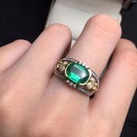 6.5*9 мм 1.55ct золото 4.43 г Fine Jewelry Идеальный 18 К золото идеальная высшего сорта колумбийский изумруд кольцо обручальное кольцо