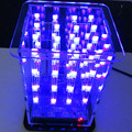 Free Shipping 4*4*4 DIY Electronic Kit 3D LED Light Squared Blue LED Cube DIY PCB Board Kit Set with Case suitable for Arduino