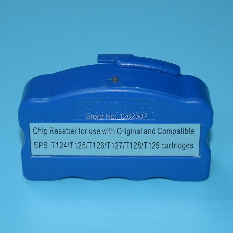 WF3520 Chip resetter For Epson T1261-T1264 / T1271-T1274 cartridge chip resetter For Espon NX430 NX330 WF-3520 wf-3540 4 color empty refillable cartridge with chip t1261 t1262 t1263 t1264 for epson wf 3520 wf 3540 wf 7010 wf 7510 wf 7520