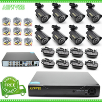 HKES 8CH AHD DVR Recorder Video Surveillance System Kit CCTV Oudoor 960P Dome Bullet AHD Camera