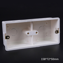 5pcs Type 86 Universal Junction Box Duplex Cassette Thickening Wall Mount Switch Socket Bottom Box 158*72*50mm