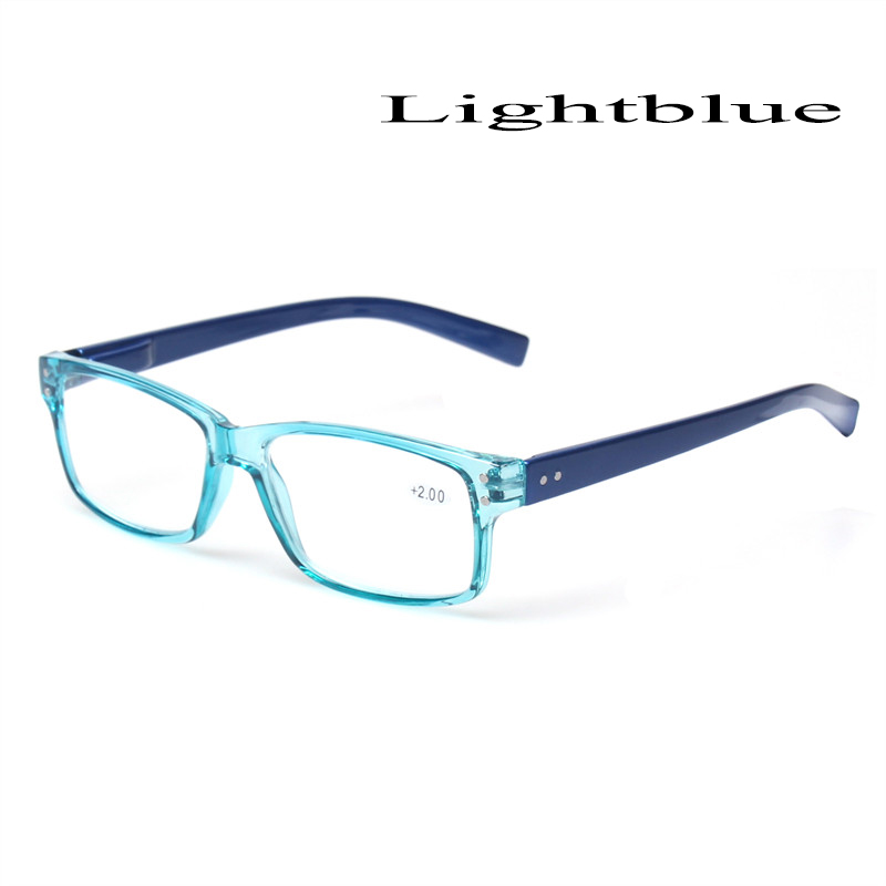 2018 Fashion Clear Plastic Men and Women Reading Glasses Rectangular - Apparel Accessories - Photo 5