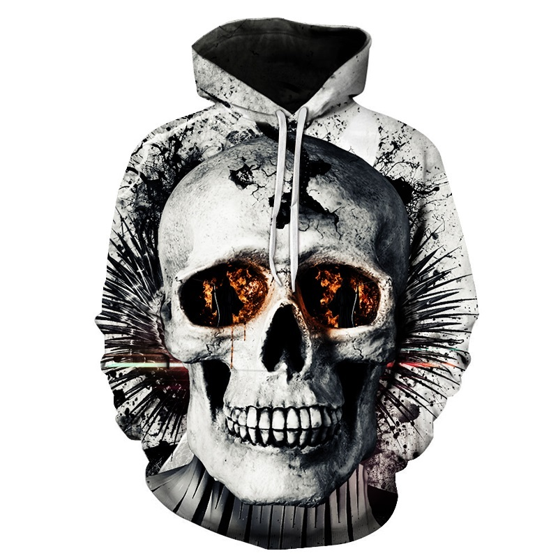 ZOOTOP BEAR New design skull poker print Men/Women Hoodies ...