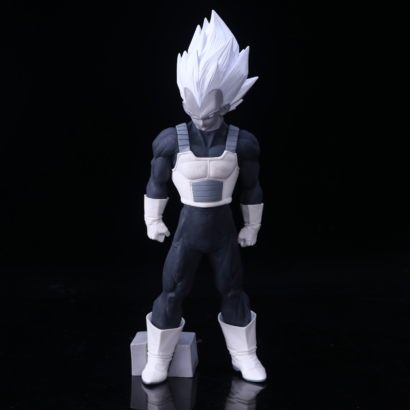 Anime Dragon Ball Z Super Master Stars Piece The Vegeta Black Ver. PVC Action Figure Collectible Model Toys Big Size 33cm Doll wholesale dual dutch piece suit yixing tea tray ceramic ru ding black dragon tea