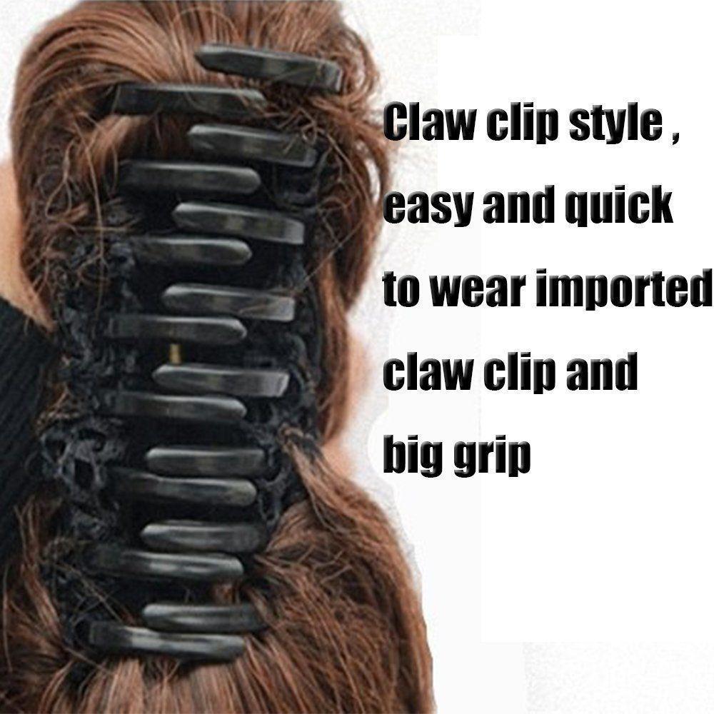 SNOILITE Syntetiska Kvinnor Kläm på Ponytail Clip i - Syntetiskt hår - Foto 2