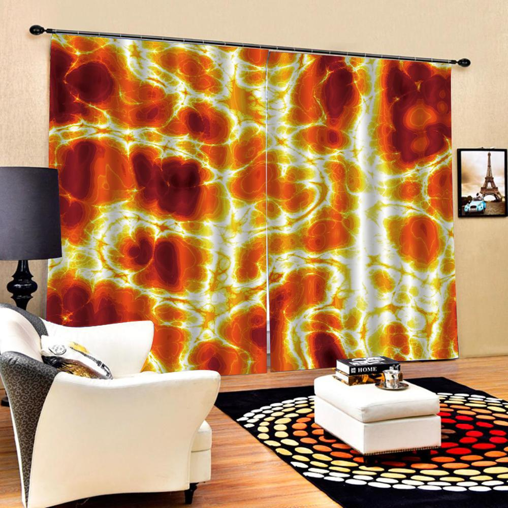 European 3D Curtains angel design Curtains For Living Room Bedroom golden curtains fire curtain in Curtains from Home Garden