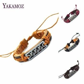 2017 Couro Genuíno Sea Turtle Charm Bracelet Cuff Trançado Envoltório Bracelet & Bangles Moda Para Homens Mulheres Presentes