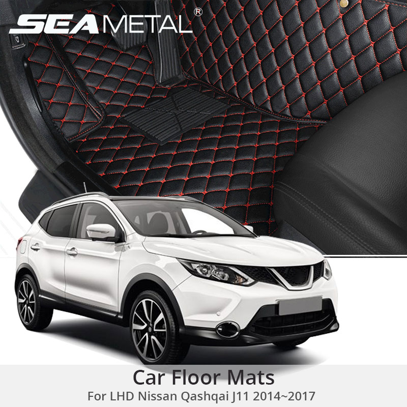 Car Floor Mats For LHD Nissan Qashqai J11 2017 2016 2015 2014 Custom Car-styling Leather Interior Auto Rugs Pads Car AccessoriesCar Floor Mats For LHD Nissan Qashqai J11 2017 2016 2015 2014 Custom Car-styling Leather Interior Auto Rugs Pads Car Accessories