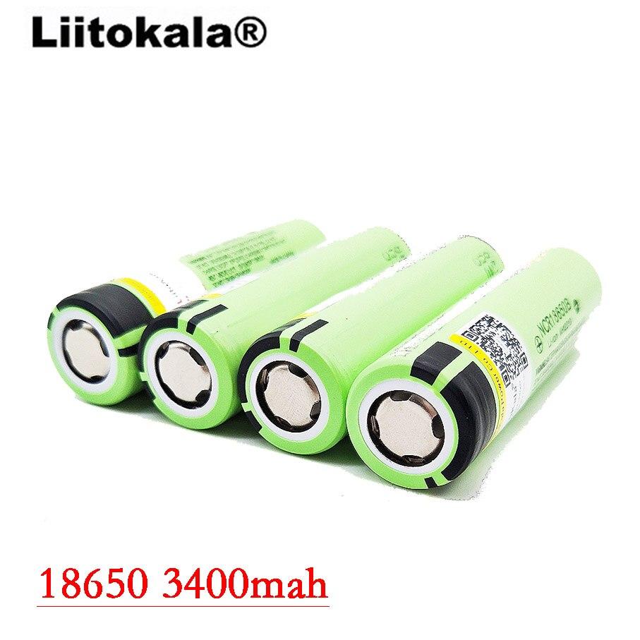 Liitokala 2017 8pcs / lot New Original <font><b>18650</b></font> NCR18650B rechargeable <font><b>battery</b></font> <font><b>3400</b></font> <font><b>mah</b></font> li-ion 3.7V