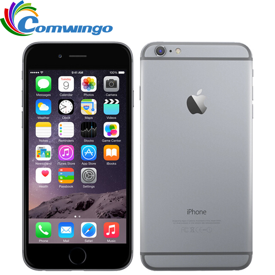 """Оригинальное разблокирована Apple iPhone 6 плюс Мобильный телефон 5.5 """"Dual Core 16 г/64 ГБ/128 ГБ ROM IOS iphone 6plus 8MP Камера 4 К видео LTE"""