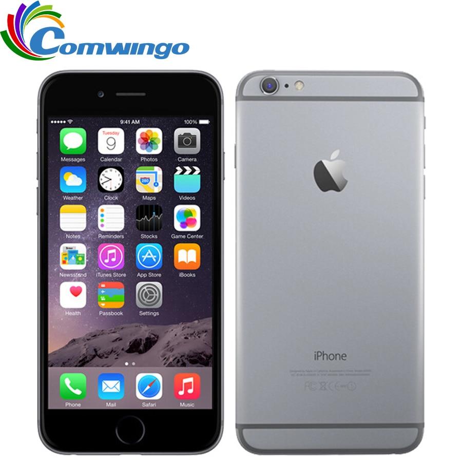 """Оригинальный разблокирована Apple iphone 6 Plus Мобильный телефон 5,5 """"Dual Core 16 г/64 ГБ/128 ГБ Встроенная память IOS iphone 6plus 8MP камера видео 4k LTE"""