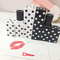 Free Shipping 12 1mm 10 20 50pcs Lot Black White High Grade Lipstick Tube Spotted Empty