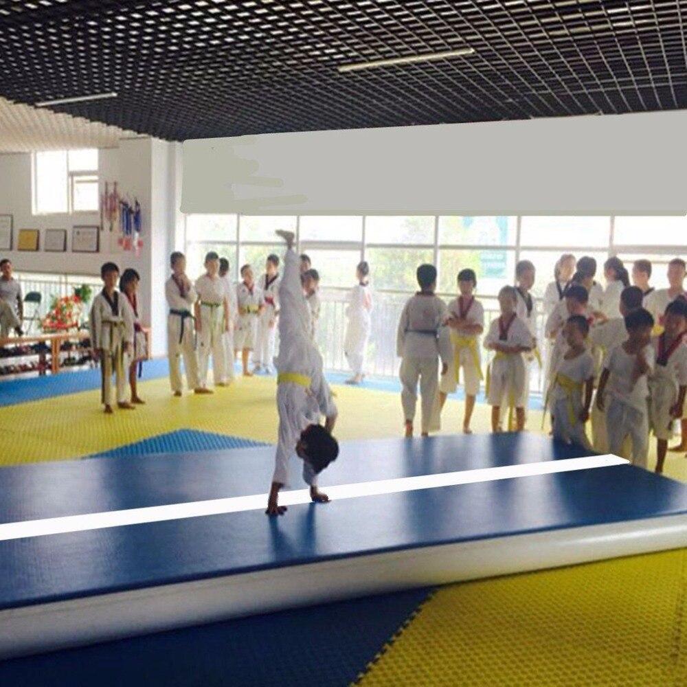 Надувные тренажерный зал Коврики воздуха пола акробатика трек Гимнастика Чирлидинг Коври ...