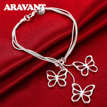 2019 New Arrival Silver Butterfly Charm Bracelets For Women Engagement Silver Plated 925 Jewelry Gifts цена в Москве и Питере