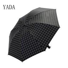 YADA Plaid Charms Umbrella Rain Women uv Folding For Womens High Quality Brand Windproof Umbrellas Dropshipping YS088